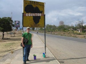Me Standing at the Equator Sign in Nanyuki